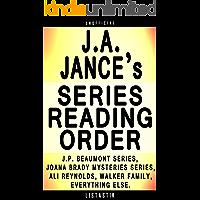 J.A. Jance Series Reading Order: Series List - In Order: J.P. Beaumont series, Joana Brady Mysteries series, Ali…
