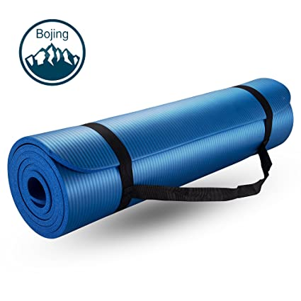 Bojing Yoga Mat, Thick Exercise Multiple Use 2/5-Inch Yoga Mat