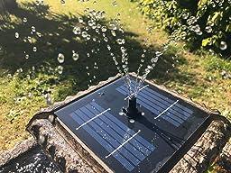 Bain d 39 oiseau pizzaro fontaine solaire avec lumi res jardin - Baignoire oiseaux jardin ...
