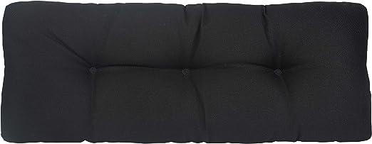 Klear Vu The Gripper Non-Slip Tufted Omega Universal Bench Cushion, Midnight, 36