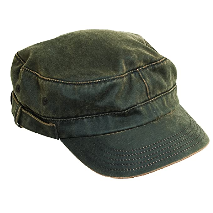1e91993153c Image Unavailable. Image not available for. Color  Dorfman Pacific Unisex  Weathered Cotton Summer Military Cadet Hat ...