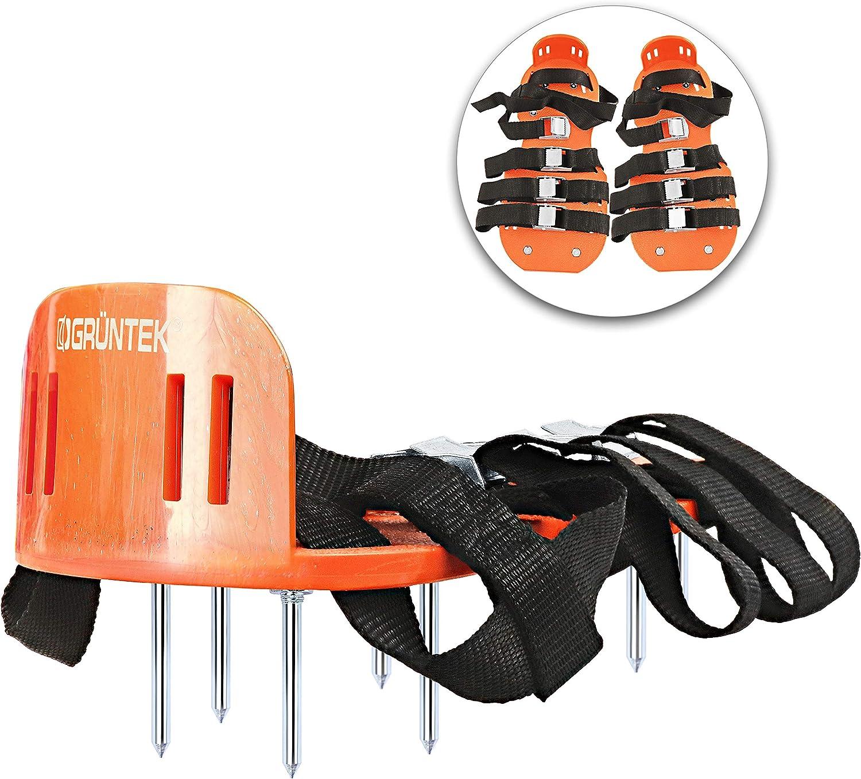 GRÜNTEK Zapatos Aerador de Cesped: sandalias con 4 correas ajustables y clavos en acero