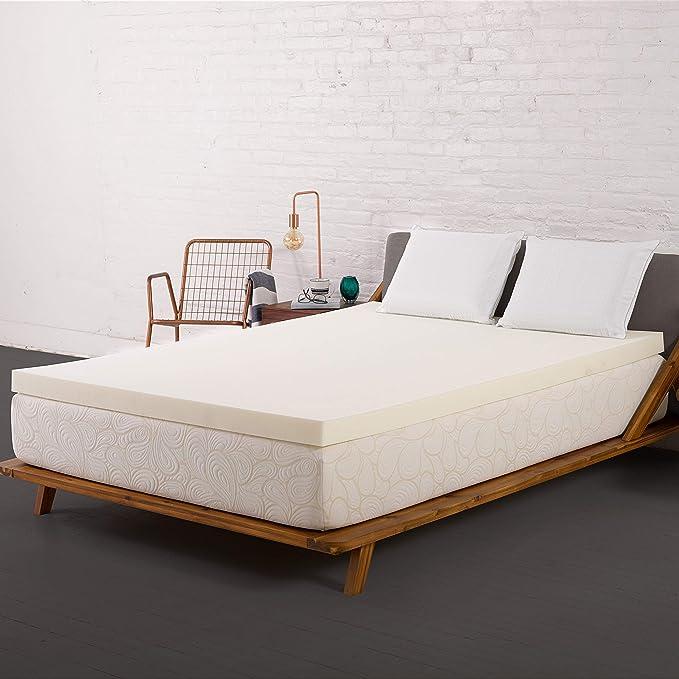 SleepJoy ViscO2 Memory Foam Mattress Topper Breathable and Cozy