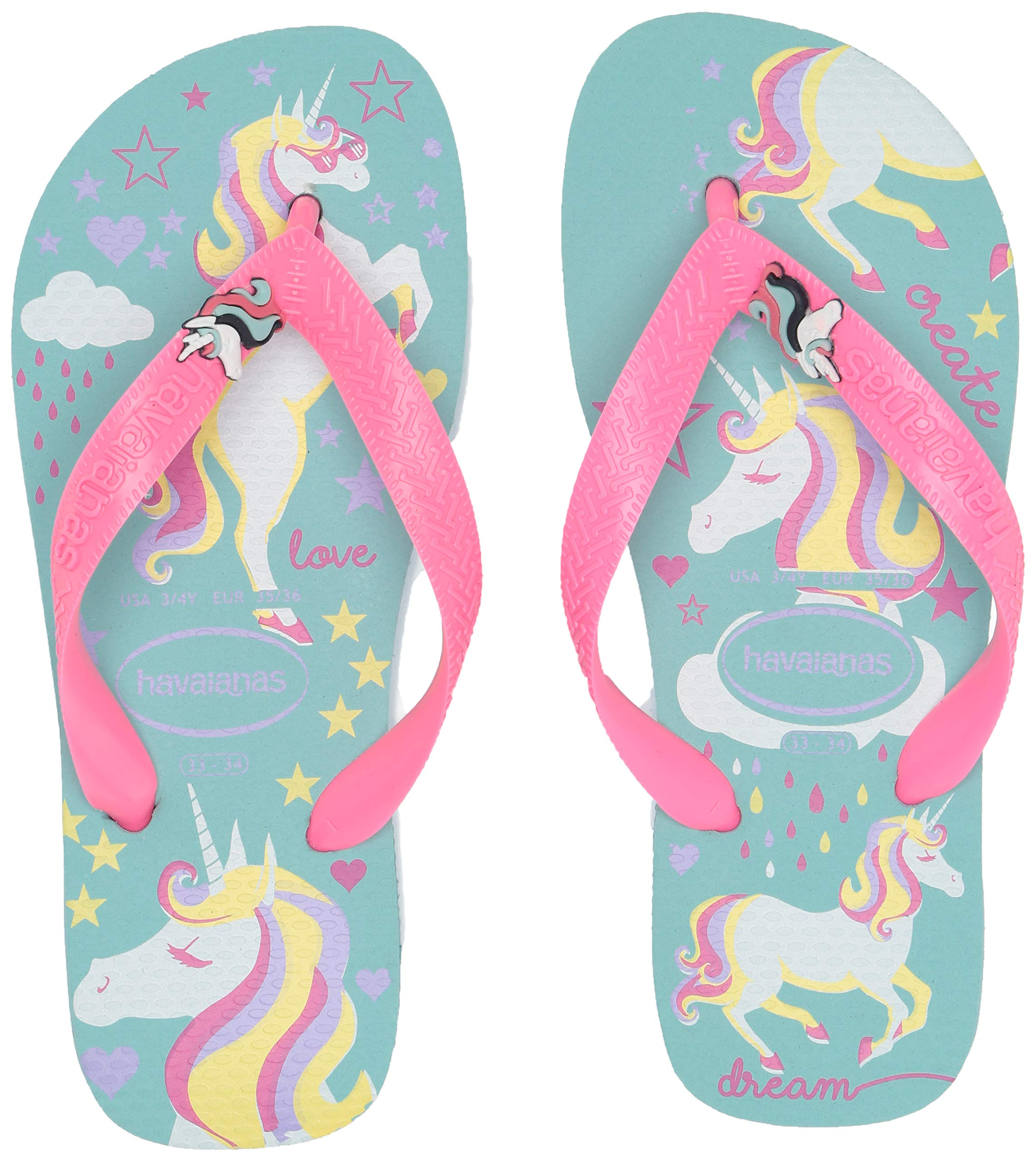 Havaianas Kid's Fantasy Flip Flop Sandal, Blue/Pink, 11/12 M US Little Kid by Havaianas