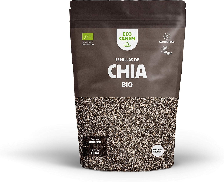 Ecocanem Semillas de chia BIO. Calidad extra. 900 g (Pack 3 x 300 g): Amazon.es: Alimentación y bebidas