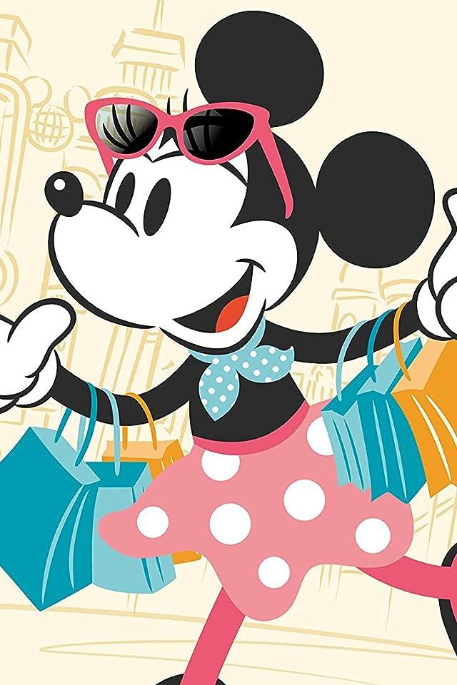 ディズニー 買い物中のミニーマウス iPhone(640×960)壁紙画像