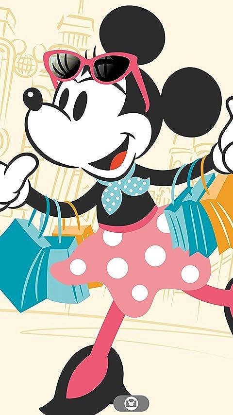 ディズニー 買い物中のミニーマウス XFVGA(480×854)壁紙画像