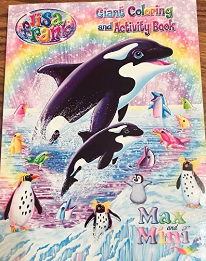 Bek Brands Lisa Frank Childrens Giant Coloring and Activity Books Styles May Vary 2 pk