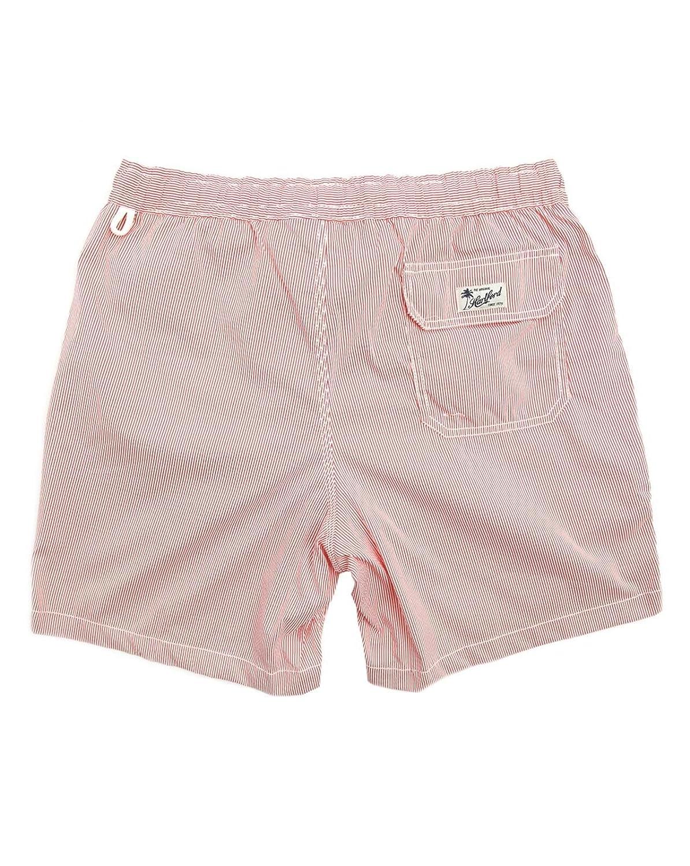 f477d85abd Hartford - Swimming Trunks - Men - Seersucker Red Swimming shorts for men -  S: Amazon.co.uk: Clothing