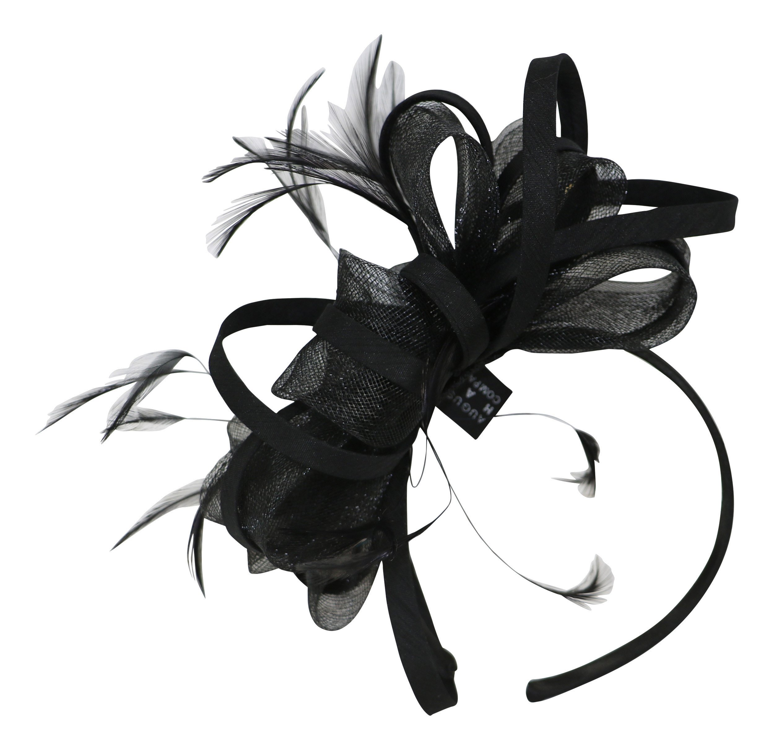 Fine Millinery by August Hat Co Begonia Fascinator Hat (Black, One Size)