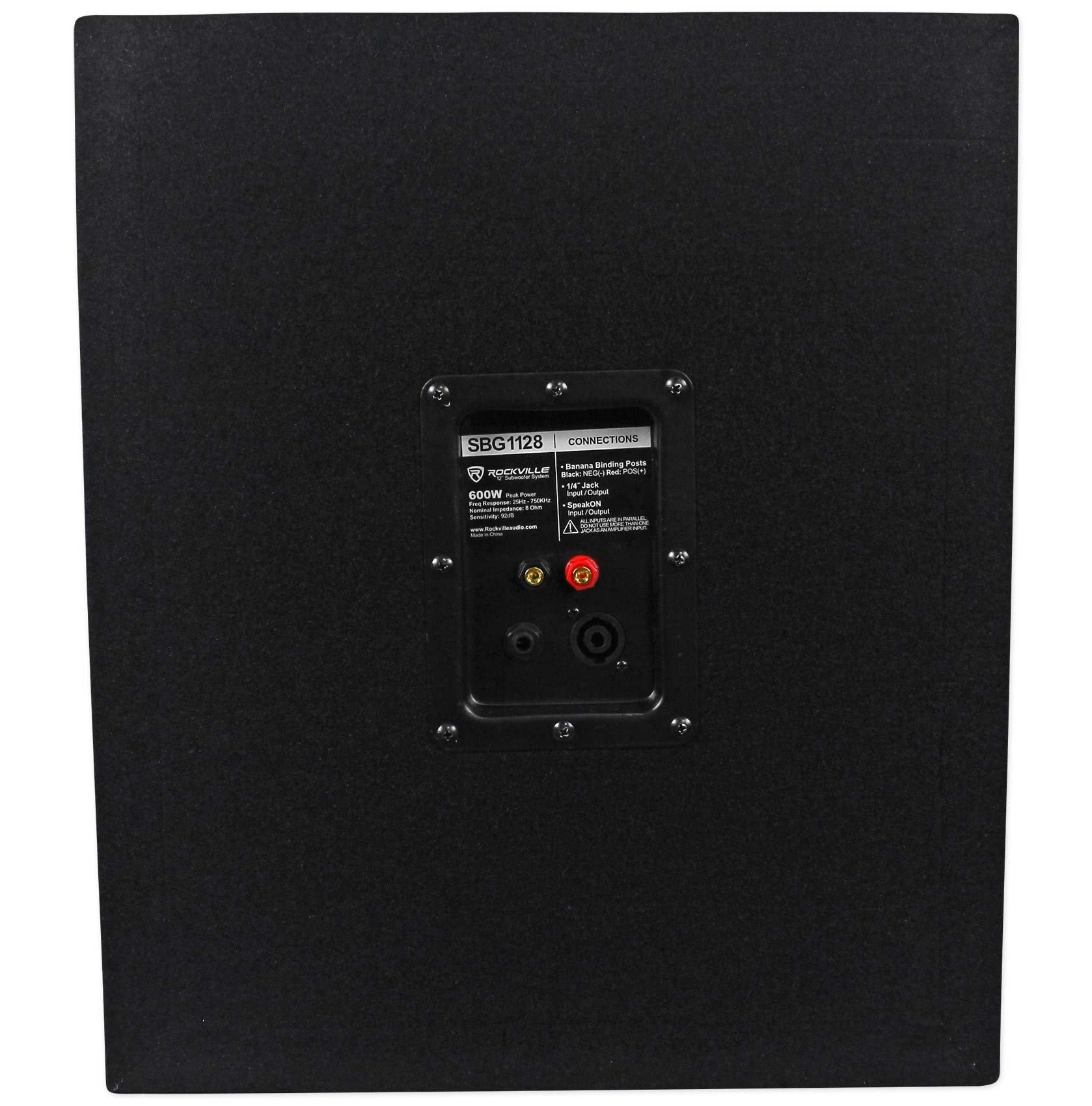 Rockville SBG1128 12'' 600 Watt Passive Pro DJ Subwoofer, MDF Cabinet/Pole Mount by Rockville (Image #4)