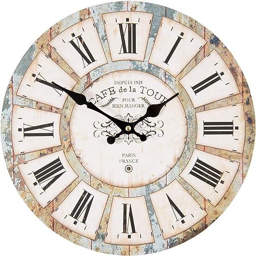 Grande Orologio da Parete in Legno MDF Decorazione Orologio da Parete al Quarzo per Soggiorno Camera da Letto Kitchen Bar