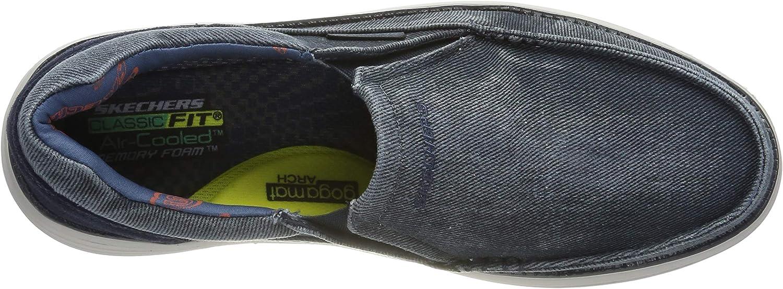 Skechers Men's Status 2.0 Mosent Moccasins Blue Blue Blu