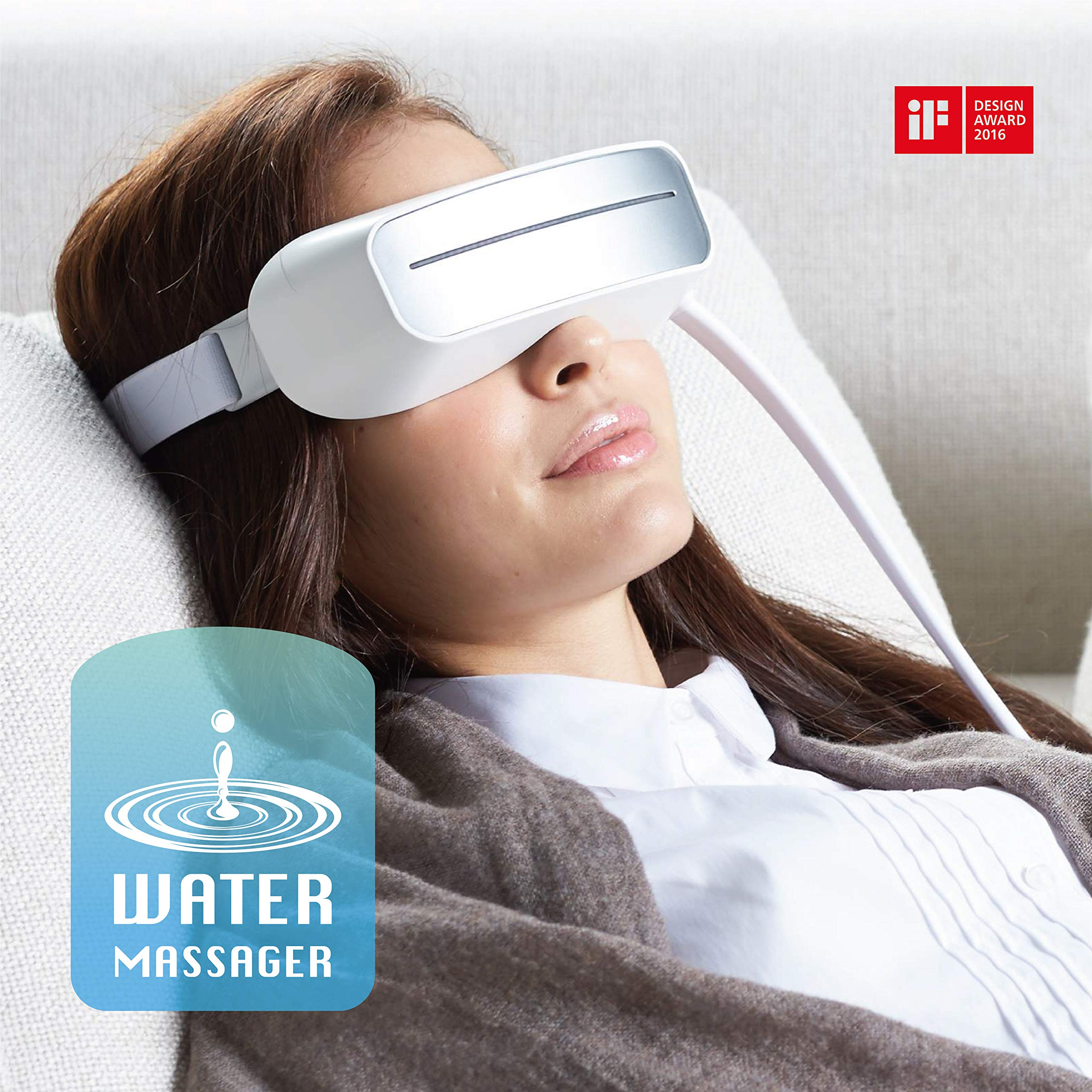 Aurai - Water Eye Massager, World's 1st Eye Care with Cooling and Heat, Best for Dry Eye, Tired Eye, Stress Relief, Dark Circles, Puffiness, and Wrinkle by Aurai (Image #1)