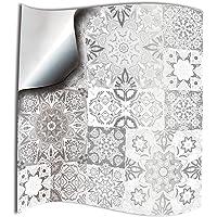 24x Gris blanco Lámina impresa 2d 15x15cm PEGATINAS
