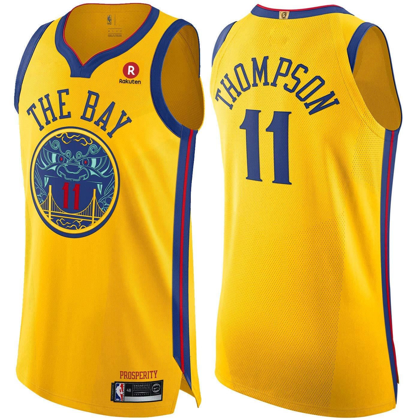 Tr/ägershirt Fitness trikotjerseyNBA Klay Thompson Golden State Warriors #11 Trikot Jersey Stickerei Anzug Sommer Basketball Anzug Hemd
