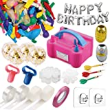 214 Pcs Balloon Pump Set- Electric Air Balloon Blower Pump, Balloon Inflator 110V 600W Portable Dual Nozzles - Balloon…