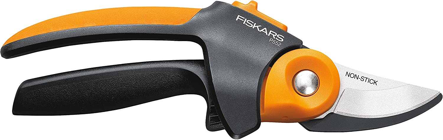 Fiskars 392791-1001 n/aa PowerGear2 Softgrip Pruner, Black/Orange