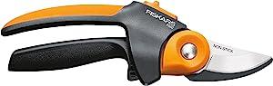 Fiskars 392791-1001 n/aa PowerGear2 Softgrip Pruner, Black/Orange