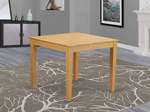 East West Furniture OXT-OAK-T Oxford Mid-Century Dining Table