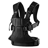 BabyBjörn Baby Carrier One, Cotton, Black, One Size (098023US)
