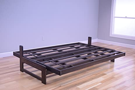 kodiak aspen futon frame with reclaim mocha finish full amazon    kodiak aspen futon frame with reclaim mocha finish      rh   amazon
