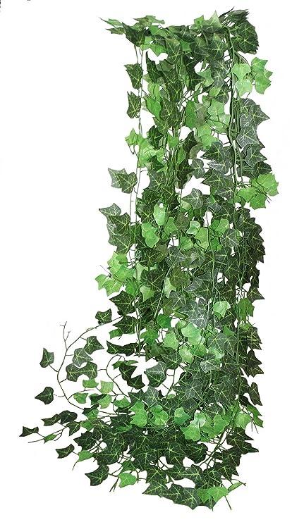 amazon com 93inch 12 strands fake creeper green ivy wreath