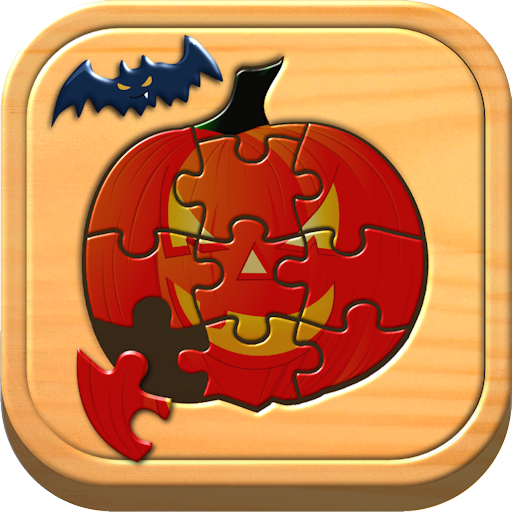 Kids Halloween Jigsaw Puzzle Logic and Memory Games for preschool children]()