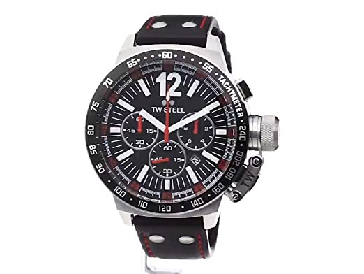 Amazon.com: TW Steel Mens CE1016 CEO Canteen Black Leather Chronograph Dial Watch: Watches