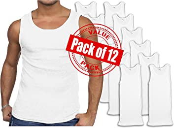 Andrew Scott Men's 12 Pack Color Tank Top a Shirt