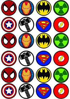 amazon com lego superhero inspired edible cupcake toppers