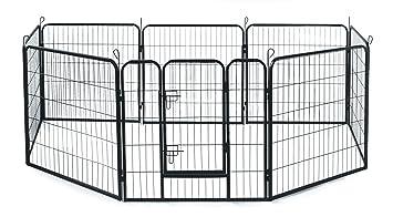 allmax metal pet fence black