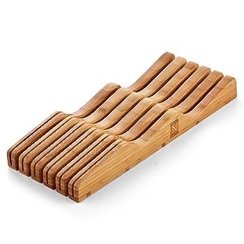 Cook N Home Bamboo Knife Block