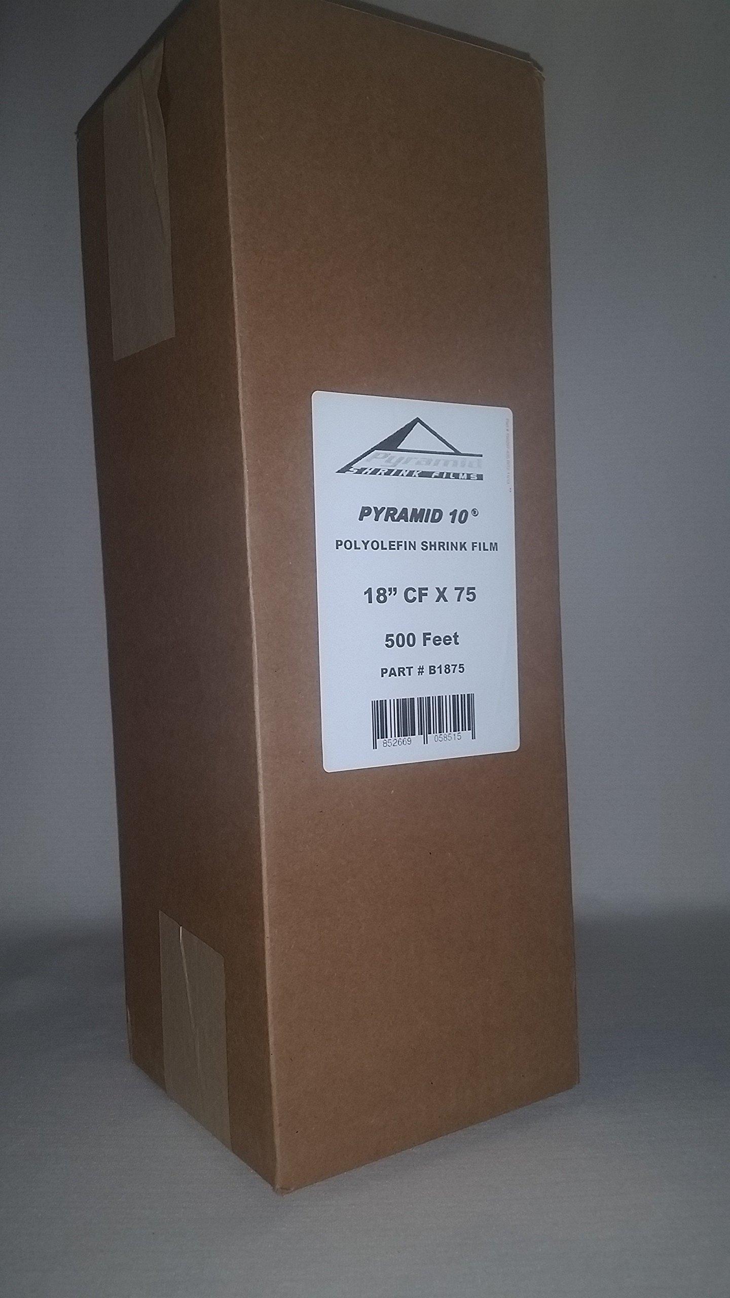 18'' 75 Gauge Polyolefin Shrink Film 500 Feet Cf