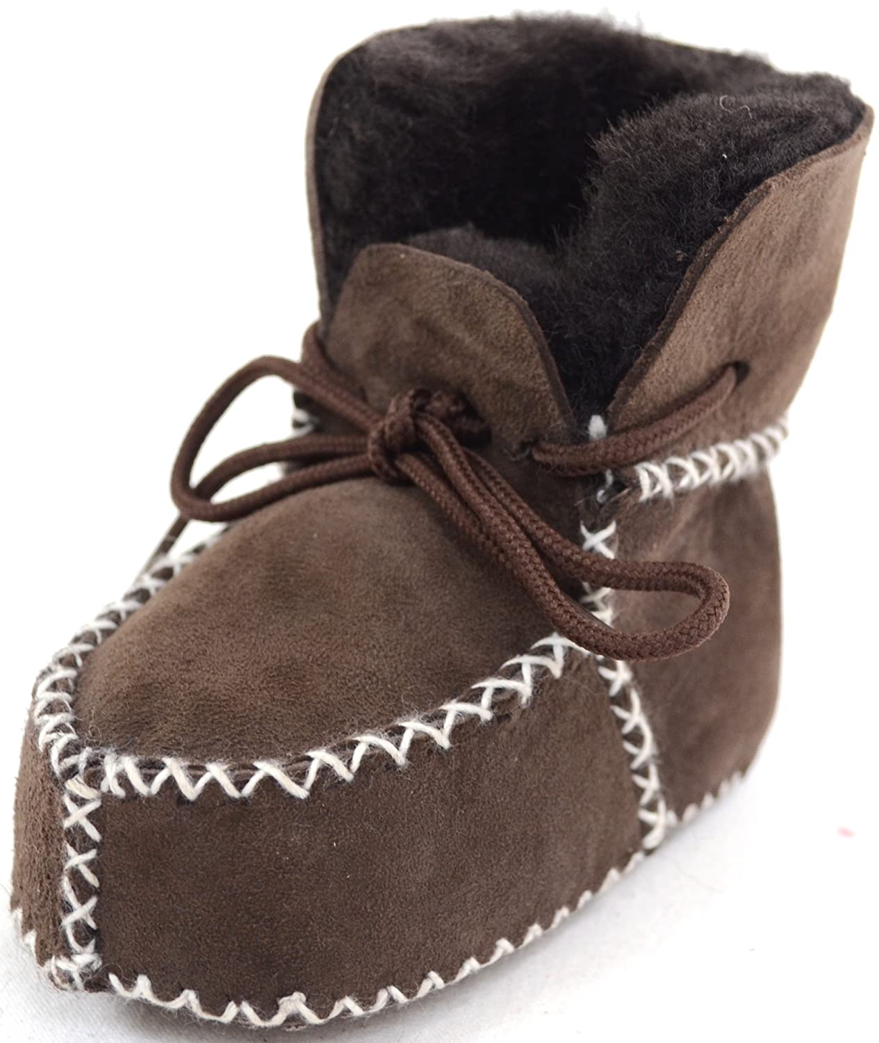 Baby / Children's Sheepskin Booties with Lace Up Fastening