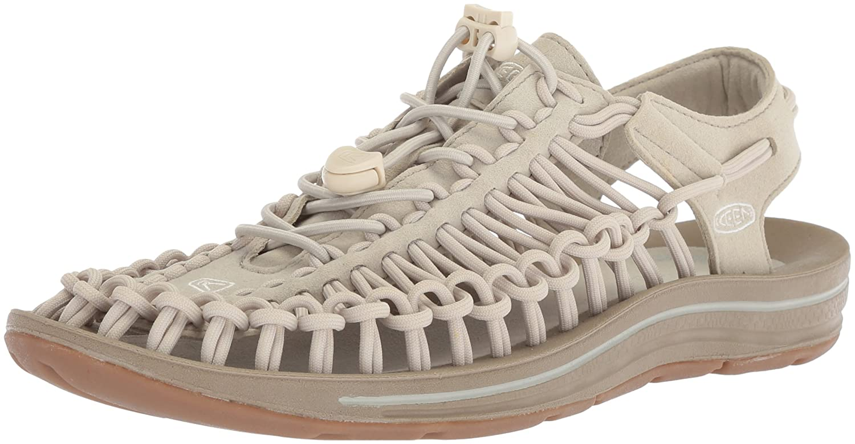 KEEN Women's Uneek-W Sandal B06ZYS1H99 10.5 B(M) US|Agate Grey/Silver Birch
