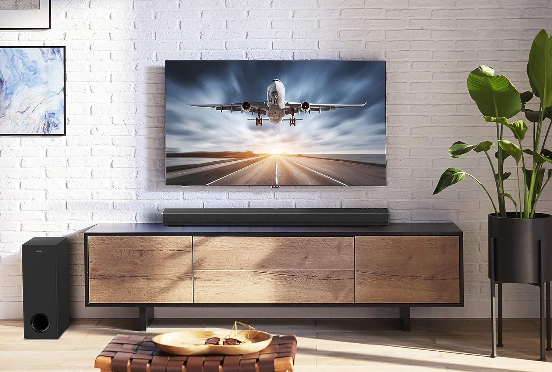 Bluetooth, Dolby Atmos, 300 W, Kabelloser Subwoofer, HDMI ARC, USB Schwarz Philips Bluetooth Soundbar PB603//10 TV Soundbar