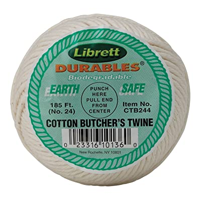 Librett Durables Butchers Twine, Cotton, 185-Feet, Made in America: Kitchen & Dining