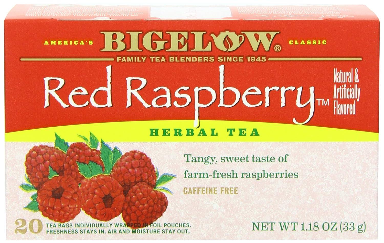 Bigelow herbal tea - Amazon Com Bigelow Red Raspberry Herbal Tea 20 Count Boxes Pack Of 6 Green Teas Grocery Gourmet Food