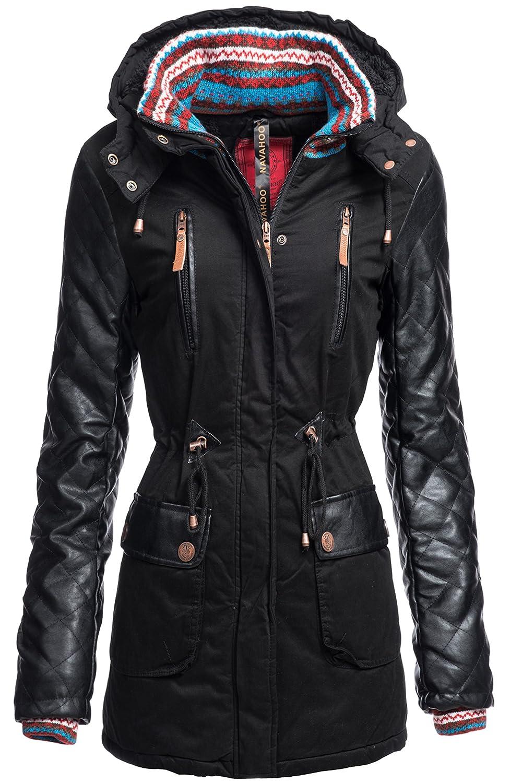 Wintermantel | Winterjacke | Baumwoll Mantel Darleen für Damen von Navahoo - Kurz-Mantel im schlanken Parka-Stil auch für den Übergang Herbst / Winter
