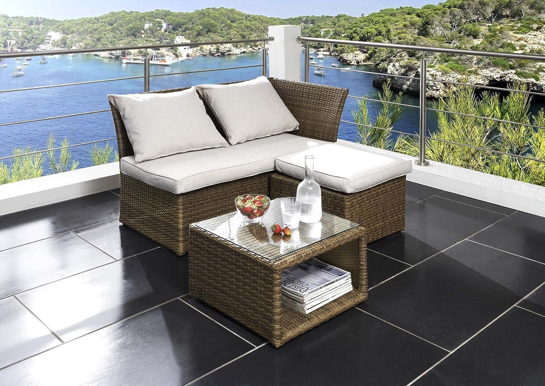 Amazon.de: 3-tlg. Balkonmöbel-Set Loft mit Kissen