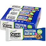 Orgain Organic Protein Bar, Chocolate Chip Cookie Dough, Gluten Free, Non-GMO, USDA Organic, 1.41 Ounce, 12 Count