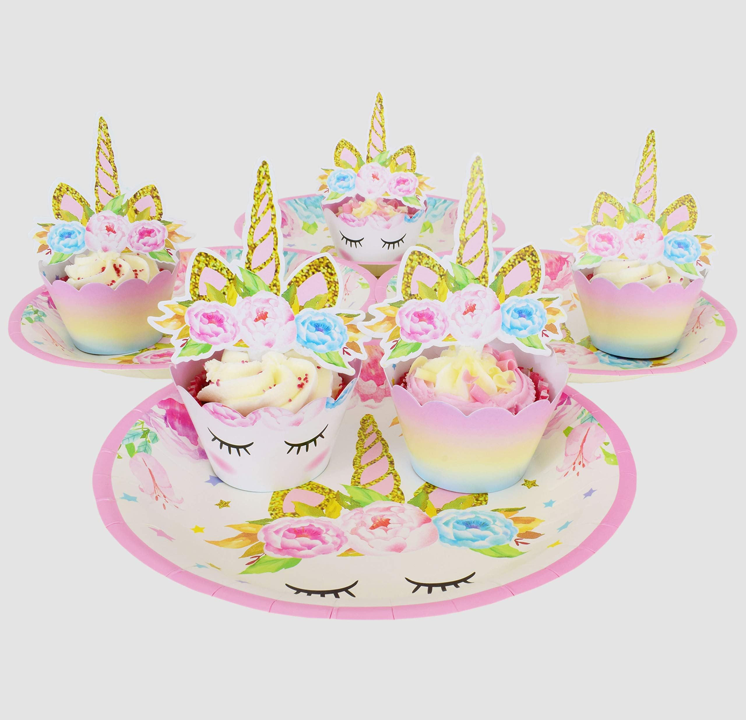 ecoZen Lifestyle Ultimate Unicorn Party Supplies and Plates for Girl Birthday | Best Value Unicorn Party Decorations Set… 8