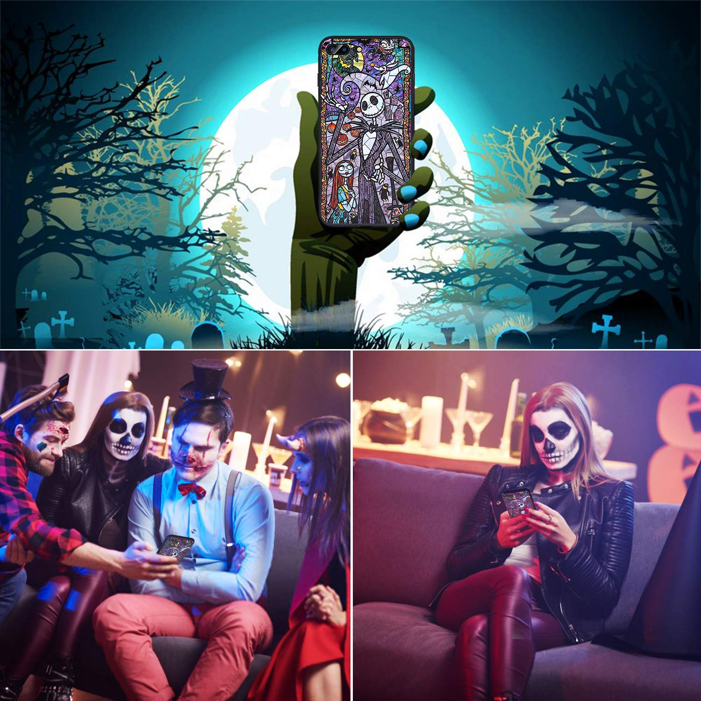Bangcool iPhone 7 Plus/8 Plus Case Anti Scratch Halloween Ghost Pattern Slim TPU Case