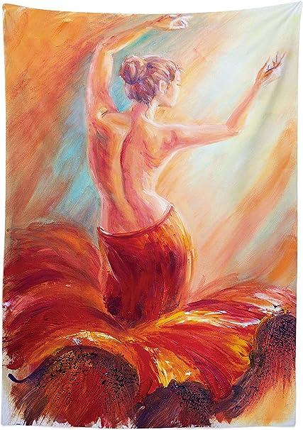 Mantel de decoración de Campo, Pintura de una Danza para ...