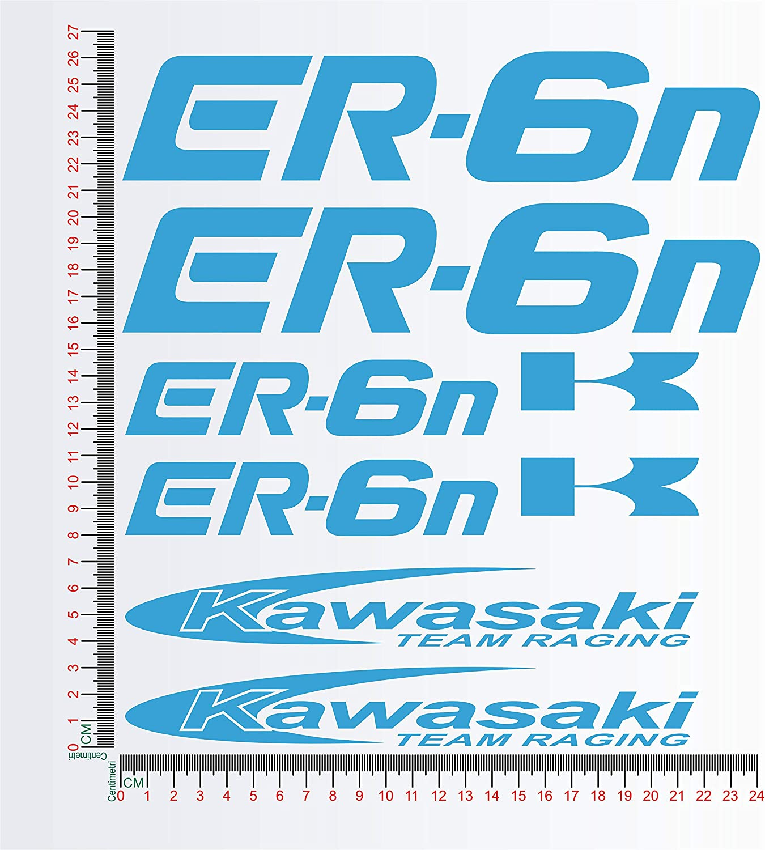 KAWASA ER-6N ER6N 1149 Kit dautocollants pour moto 010 BIANCO