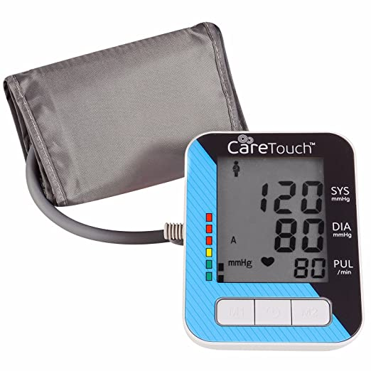 Care Touch Blood Pressure Monitor with AC Adapter - Fully Automatic Upper Arm Digital BP Cuff with AC Adapter, Classic Edition, Medium Cuff - ...