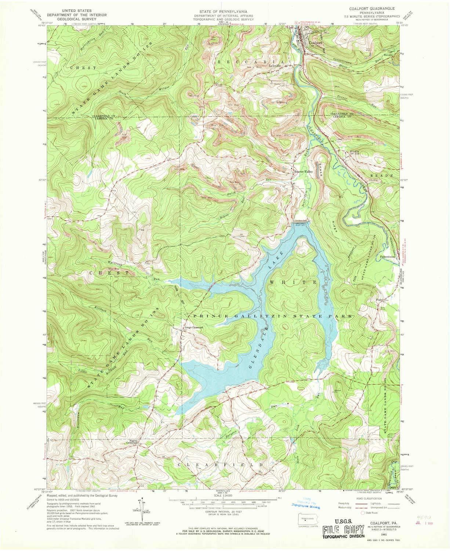 Amazon.com : YellowMaps Coalport PA topo map, 1:24000 Scale ... on