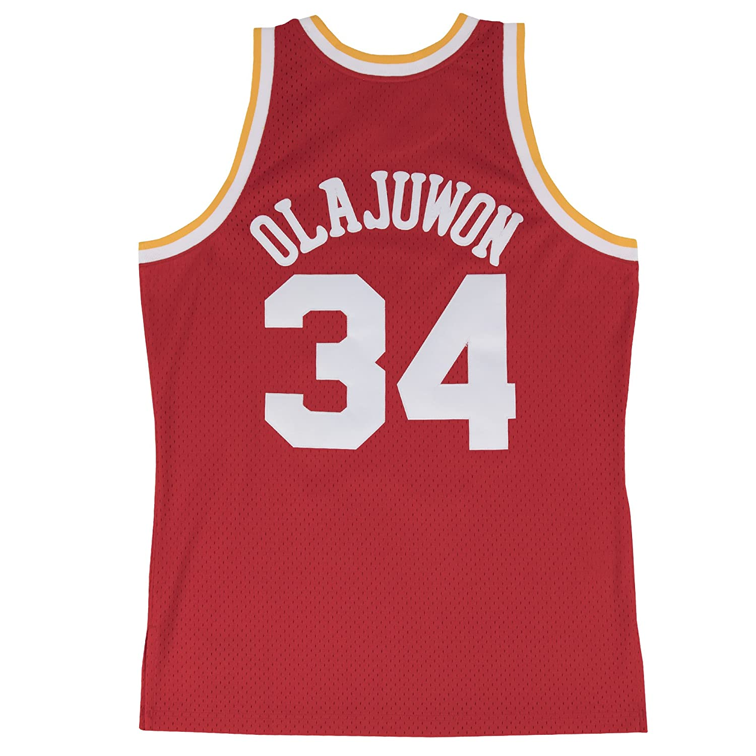 9b6edfa5d87b Amazon.com   Mitchell   Ness Hakeem Olajuwon Houston Rockets NBA Throwback  HWC Jersey - Red   Clothing