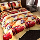 Dream Weaverz Double Bed Car Printed Bedsheet with 2 Pillow Covers for Kids Bedroom (Size 90 x 100 Inches) 2